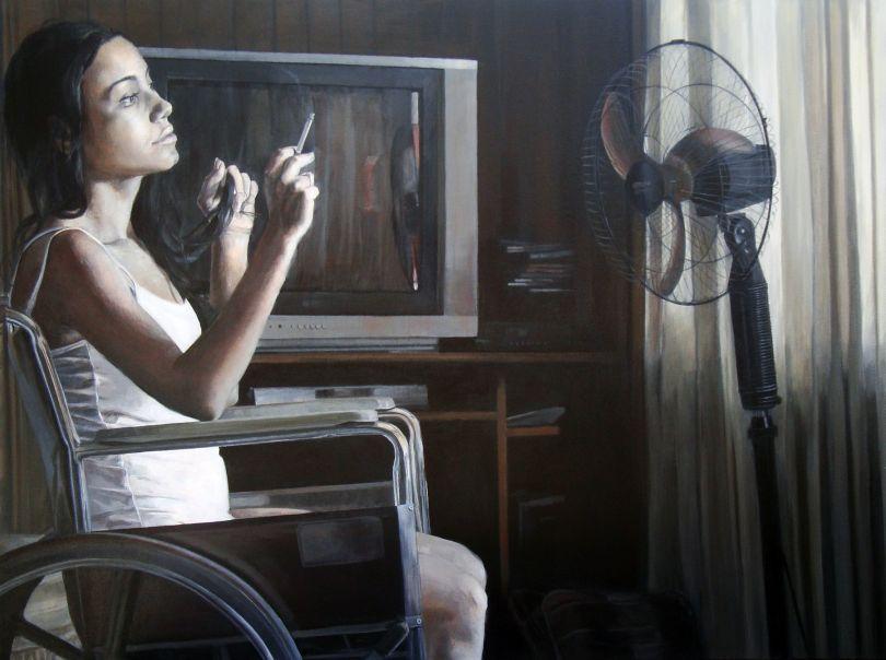 Paula Saneaux - Tomorrow - Acrylic on Canvas - 36x48 in - 2010
