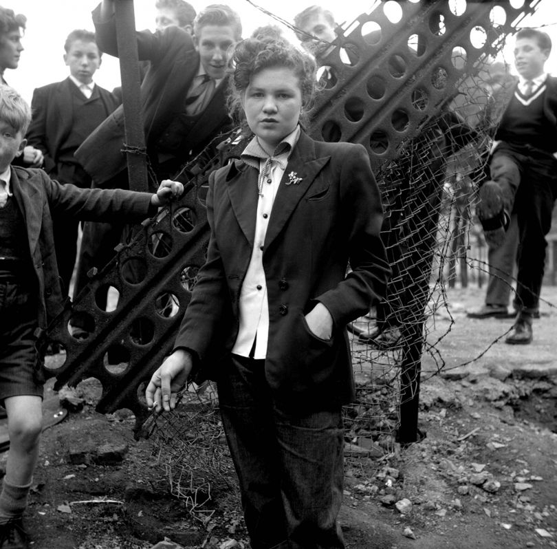 14 year old Jean Rayner in the exploratory stage of Teddyism January 1955 © Ken Russell / Topfoto.co.uk