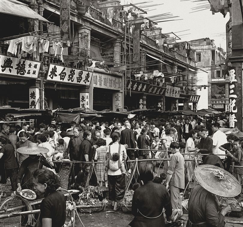 Fan Ho 'Thriving Market(川流不息)' Hong Kong 1950s and 60s, courtesy of Blue Lotus Gallery