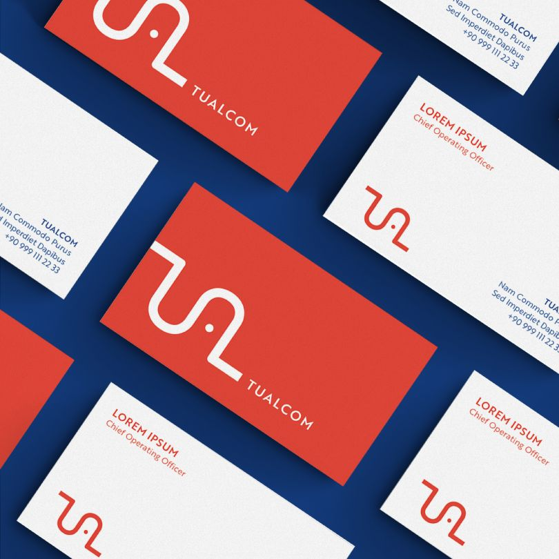 Tualcom Logo and Brand Identity by Kenarkose Creative. Winner in the Graphics and Visual Communication Design Category, 2019-2020.