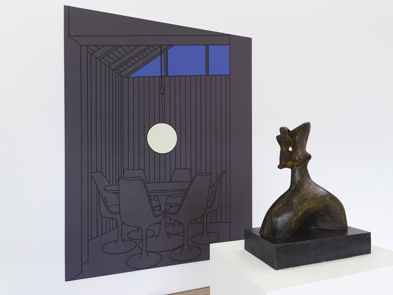 Image credit: Patrick Caulfield Dining Recess (1972) ©DACS 2016, and Henry Moore Head of a King (1952-1953) ©the artist 2016. Arts Council Collection, Southbank Centre, London. Photo: Anna Arca