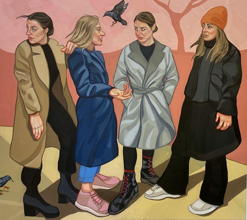 The Meet Up, 160 x 180cm, oil on canvas © Ania Hobson