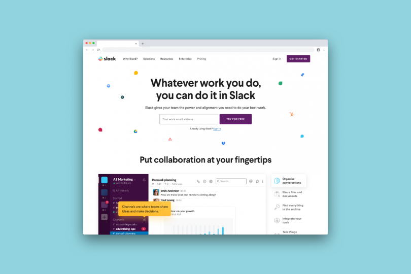 Slack is where it's at for keeping in touch
