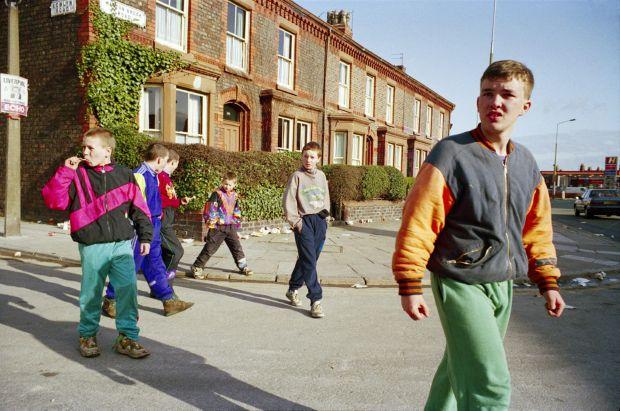 Gangolads, Anfield 1992 © Tom Wood courtesy RRB Photobooks