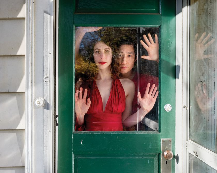 Portraits Through Windows: Photographs of people at home before and after the Covid-19 pandemic