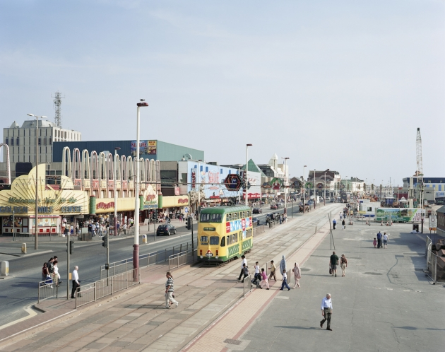 Blackpool Promenade, Lancashire, 24 July 2008. From We English © Simon Roberts, Courtesy of Flowers Gallery
