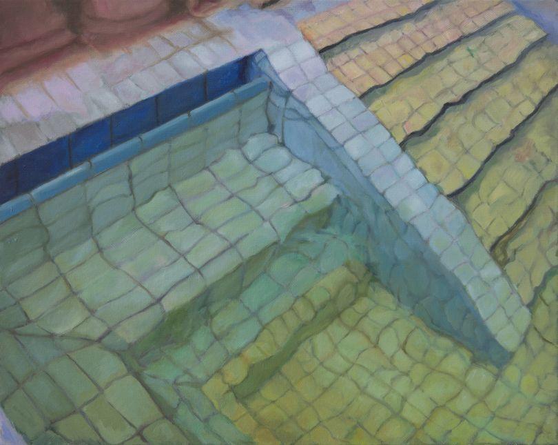 Adriana Varejão Budapeste III, 2018 Oil on canvas 40 x 50 cm 15 3/4 x 19 3/4 in © Adriana Varejão Courtesy the artist and Victoria Miro, London/Venice