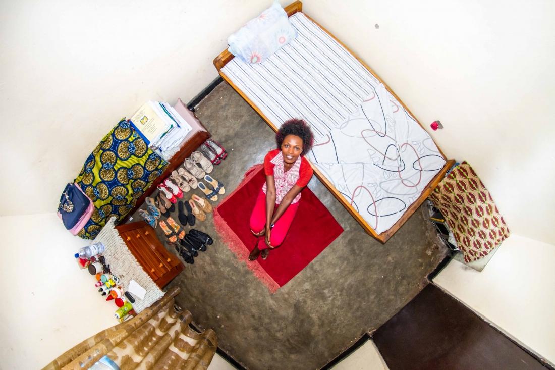 Josee, student in Kigali, Rwanda - room #915