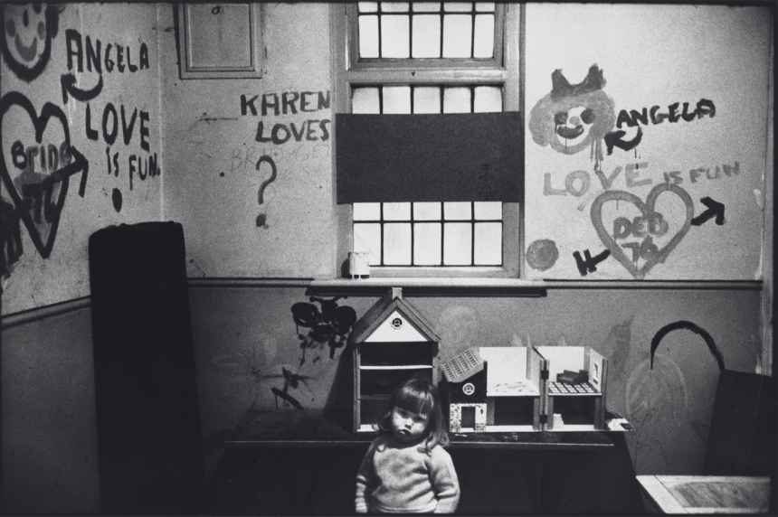 Marketa Luskacova Child in Chiswick Womens Aid, London, 1976, 1976 Arts Council Collection, Southbank Centre, London © MARKETA LUSKACOVA