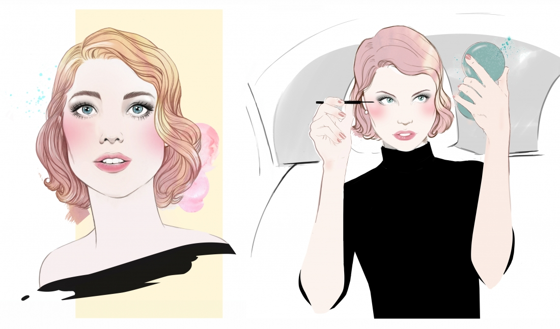Character designs, storyboarding and animation co-direction by Miss Led for Clinique