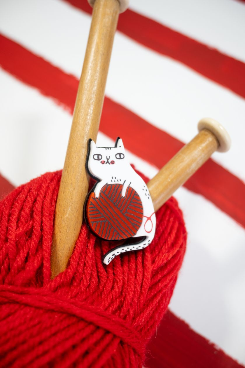 Wooly Kitty brooch © Gemma Correll X Tatty Devine