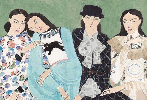 Group portrait: ARMANA, GUCCI, CHANEL, GIVENCHY