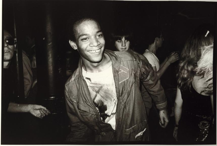 Jean-Michel Basquiat dancing at the Mudd Club, 1979. © Nicholas Taylor