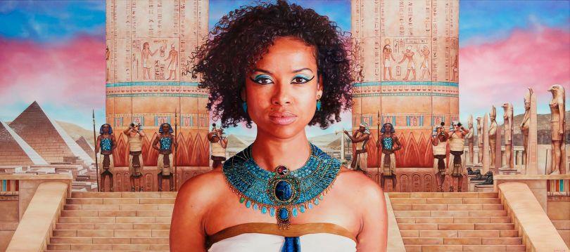 Gugu Mbatha-Raw as Cleopatra Oil on Canvas 135 x 60cm