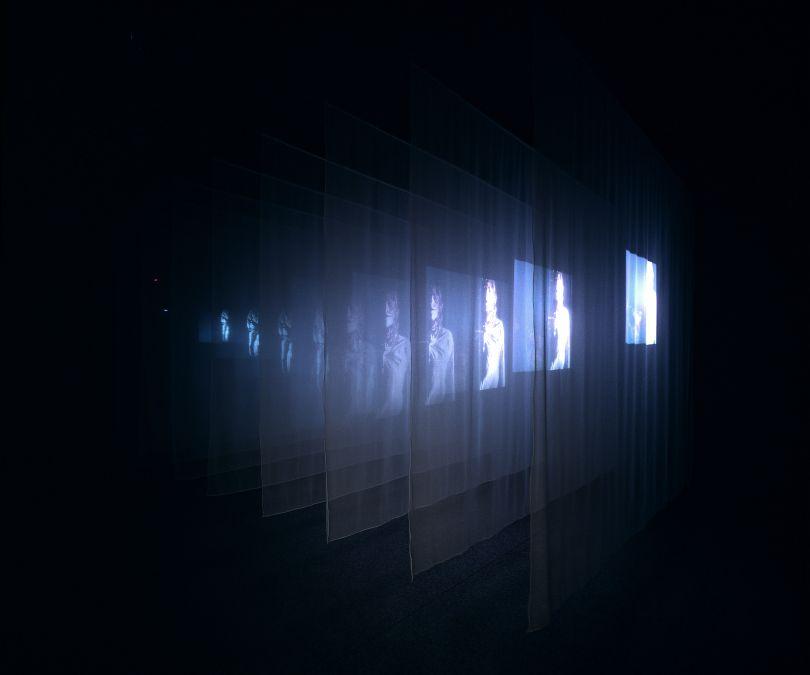 The Veiling, 1995 Video/sound installation 30:00 minutes Performers: Lora Stone, Gary Murphy Courtesy Bill Viola Studio © Bill Viola Photo: Roman Mensing