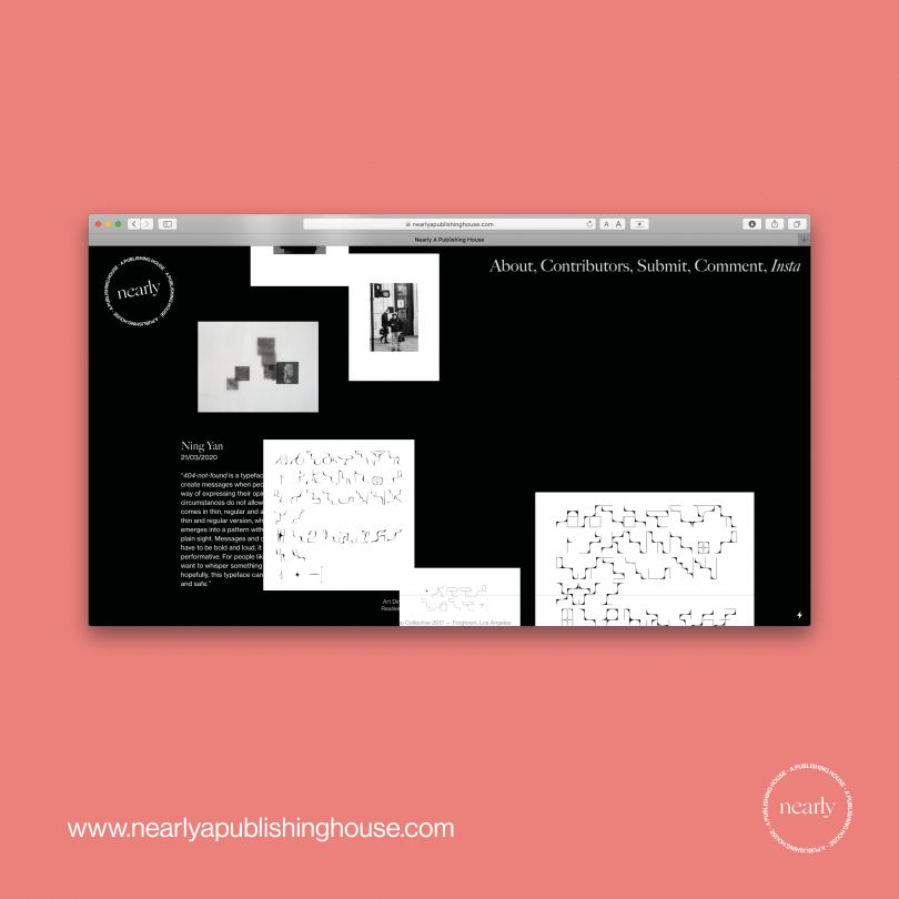 Homepage, www.nearlyapublishinghouse.com / @nearlypublish