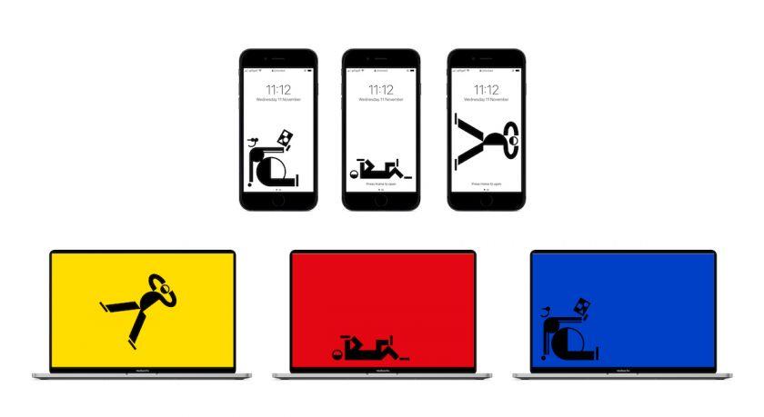 E-WERK Bauhaus Screensavers. Courtesy of Studio Lorenz Klingebiel and Christopher Lacy