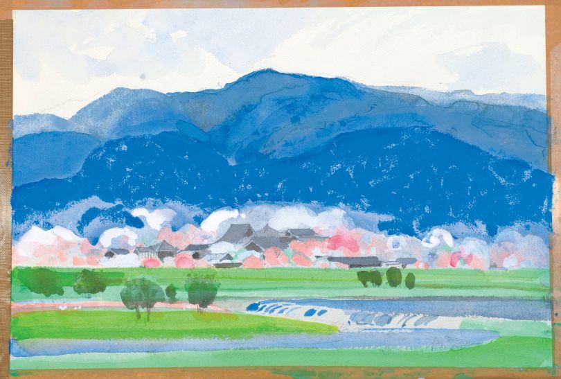 Hōrin-ji, Arashiyama (Arashiyama hōrin-ji) from 'In and Around The Capital' (Courtesy of Mori no naka no ie, Anno Mitsumasa Art Museum, Wakuden)