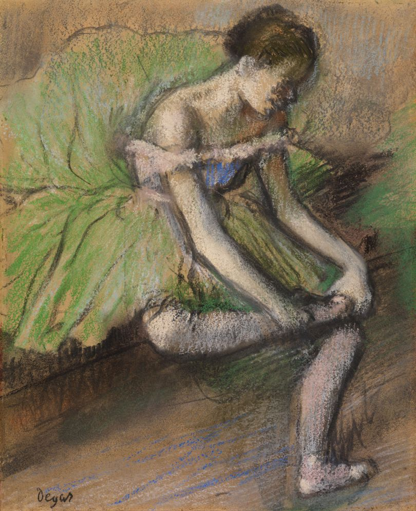 Hilaire-Germain-Edgar Degas The Green Ballet Skirt about 1896 Pastel on tracing paper 45 x 37 cm The Burrell Collection, Glasgow (35.242) © CSG CIC Glasgow Museums Collection
