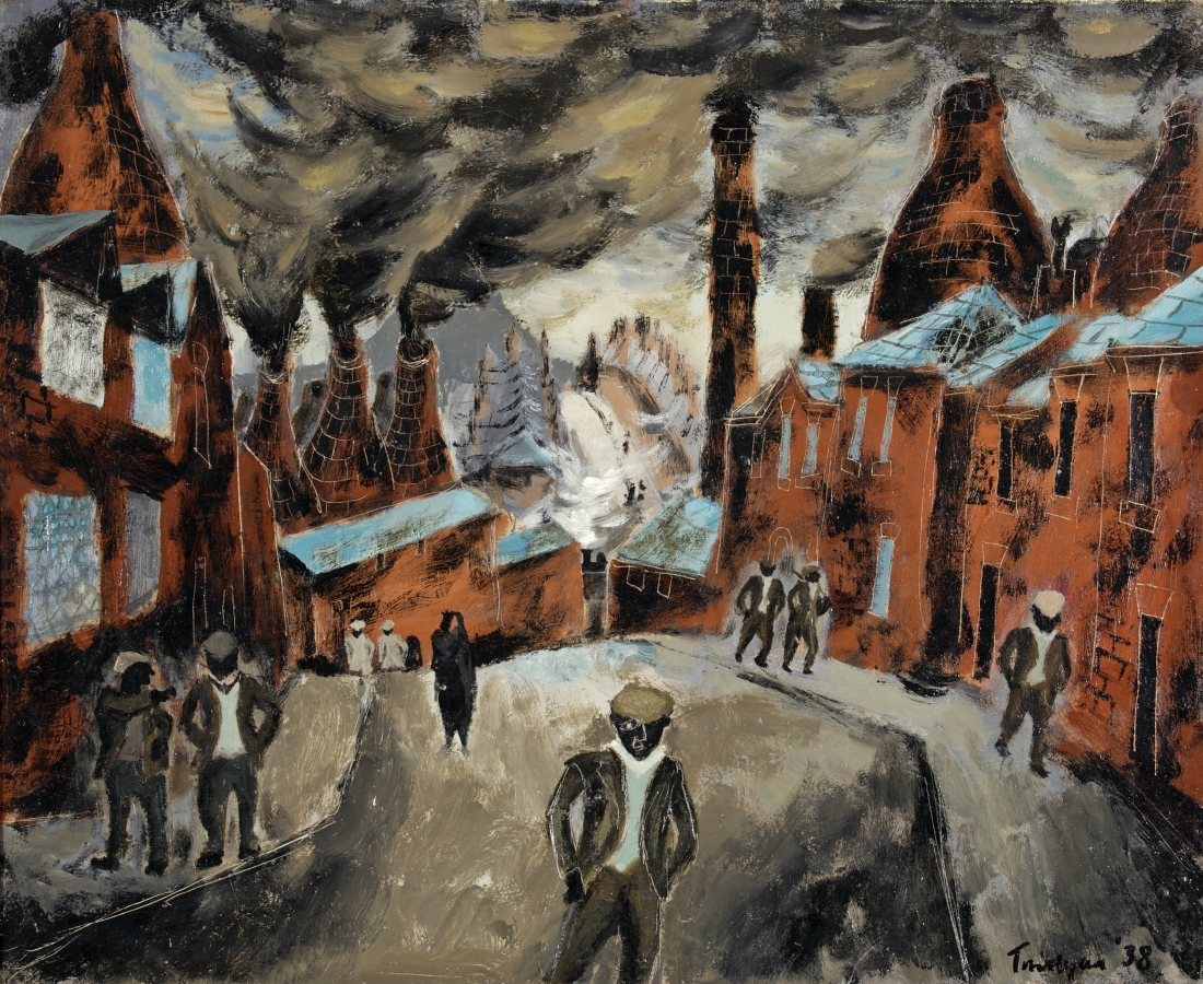 Julian Trevelyan, The Potteries, 1938, oil on canvas, 53.3 x 66 cm, Swindon Museum © The Julian Trevelyan Estate