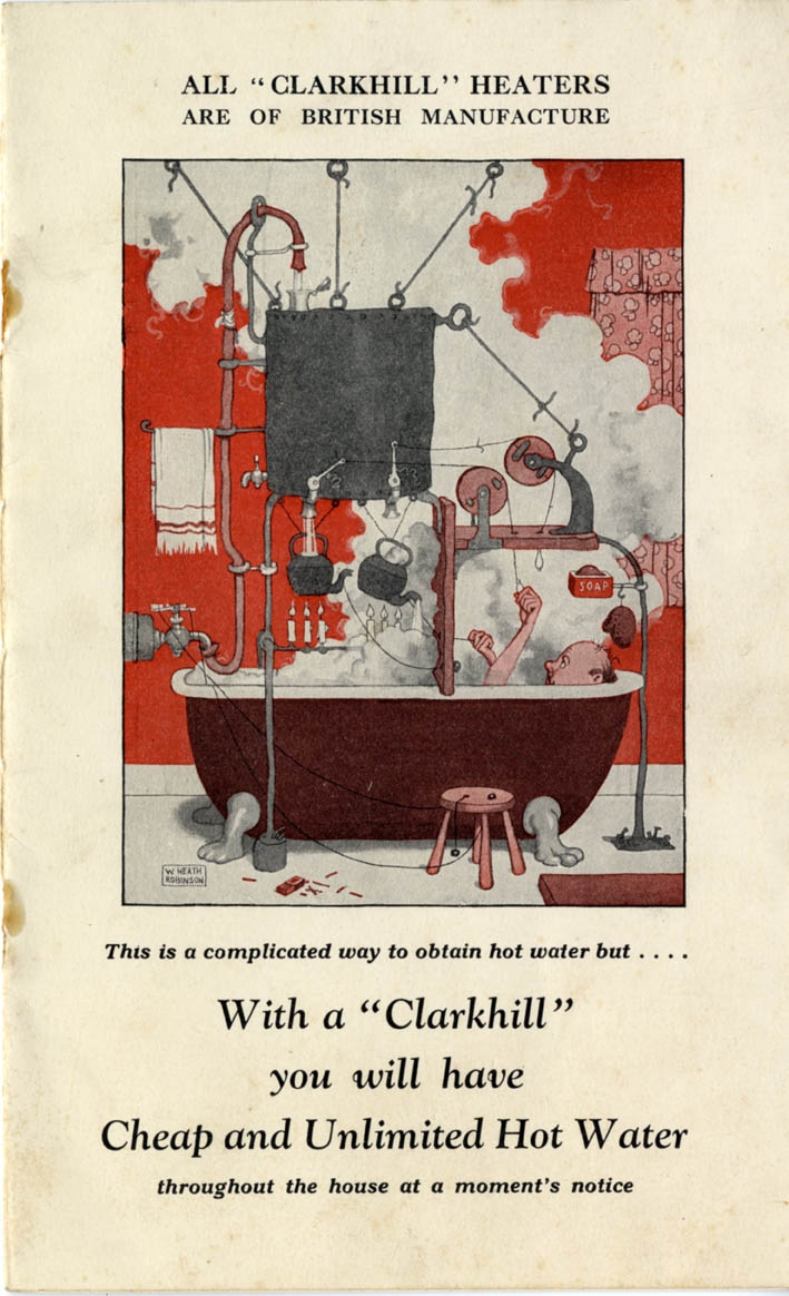 'With a Clarkhill You Will Have Cheap and Unlimited Hot Water', from This is a complicated way to obtain hot water, but . . ., c.1921.