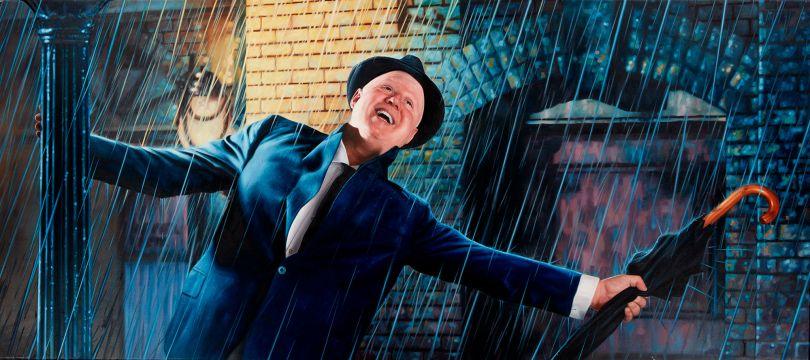 Matt Lucas as Don Lockwood from Singin' In The Rain Oil on Canvas 135 x 60cm