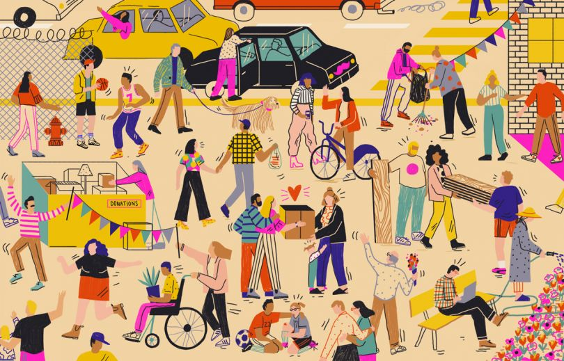 Illustration for Lyft & The Atlantic