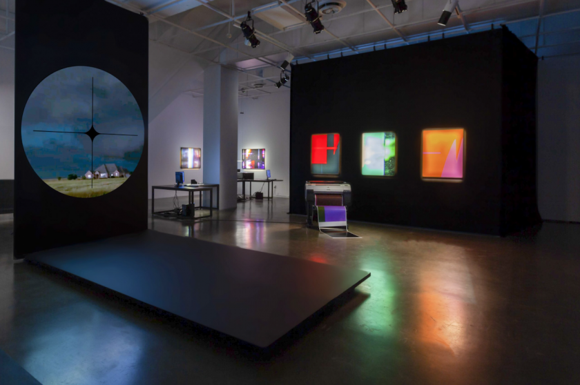 TOTAL SCREEN  exhibition, UQAM Center of Design, 2021, Photography by Michelle Brunelle