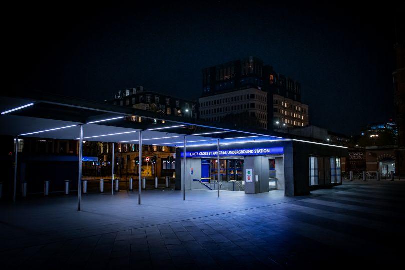 King's Cross St Pancras Underground Station, 20 April 2020 © Jan Enkelmann