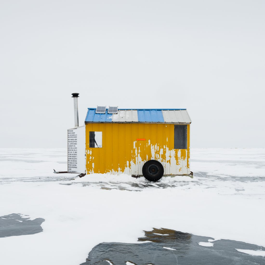 Ice Fishing Huts, Lake Winnipeg © Sandra Herber, Canada, Finalist, Professional, Architecture, 2020 Sony World Photography Awards