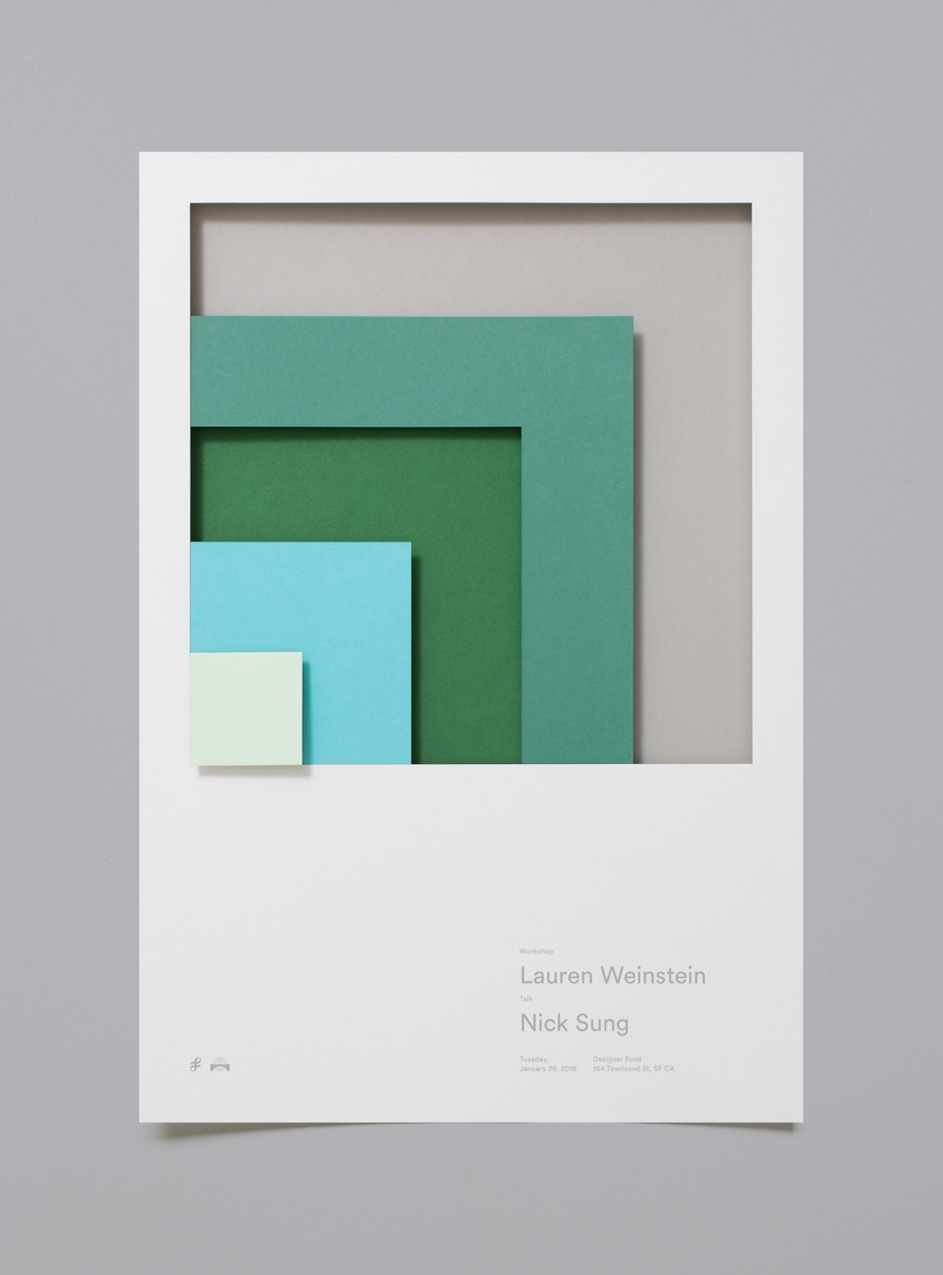 moniker uses paper to create tactile, abstract posters for