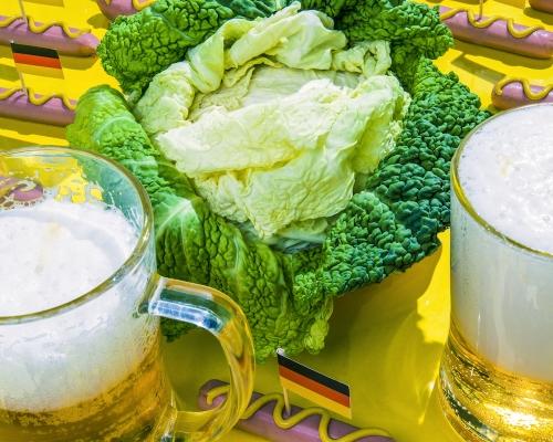 Angela Merkel / Green Cabbage and Sausage - © Dan Bannino