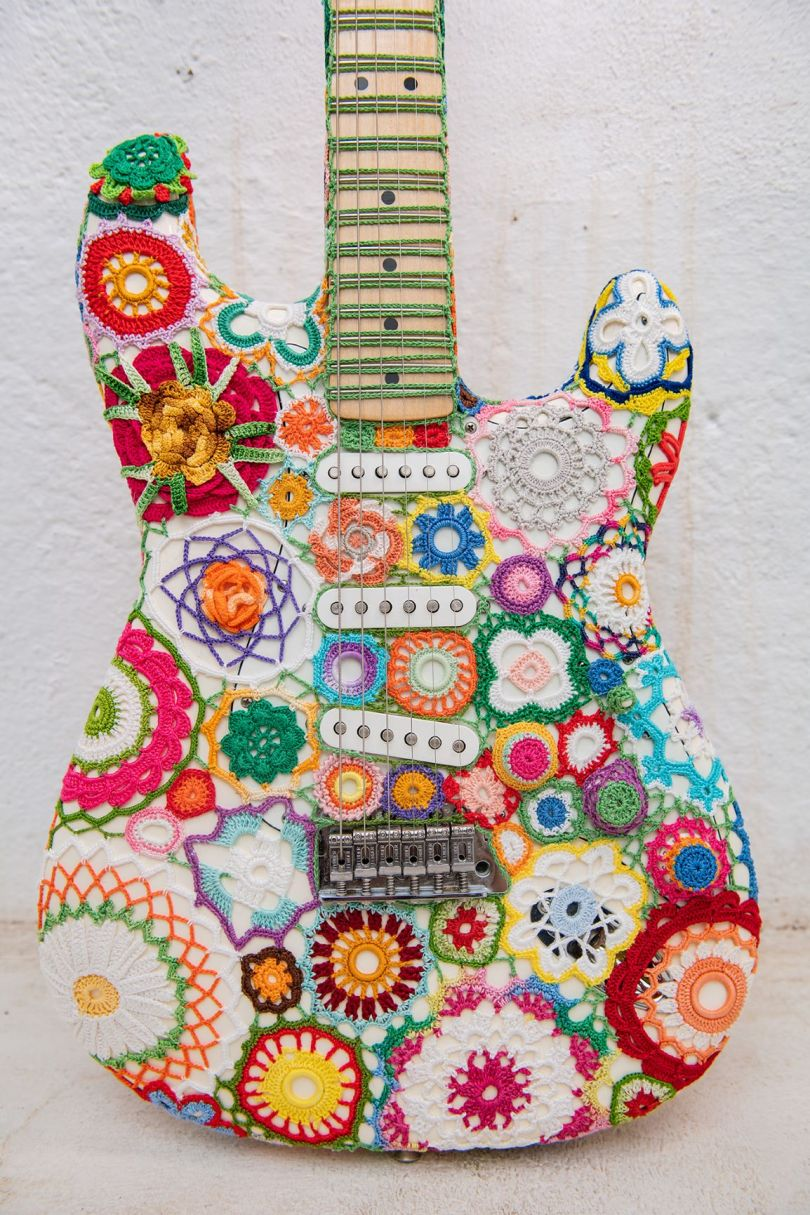 Guitar by Joana Vasconcelos. Image © Louise Haywood-Schiefer