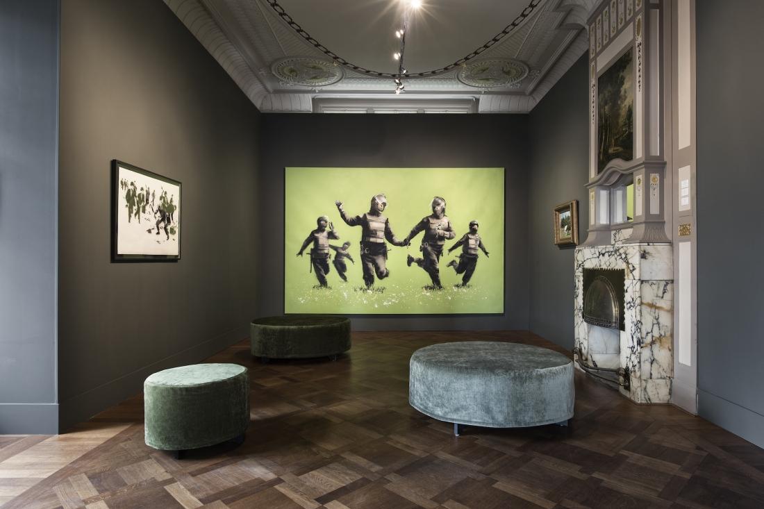Banksy, Beanfield at Moco Museum