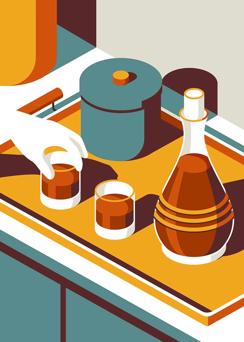 The Simple Life: Cool, graphic illustrations that celebrate mid-century design