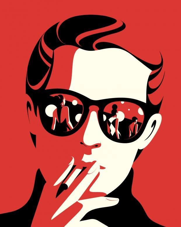 Halston, illustration for The New Yorker © Malika Favre, courtesy of the artist and Handsome Frank