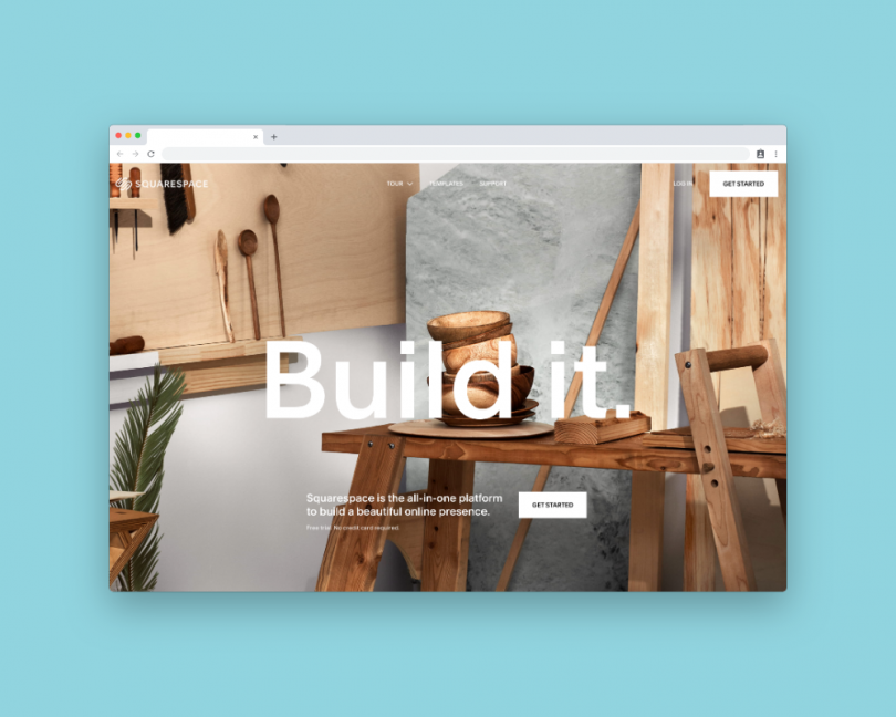 Squarespace, one of our recommended website builders