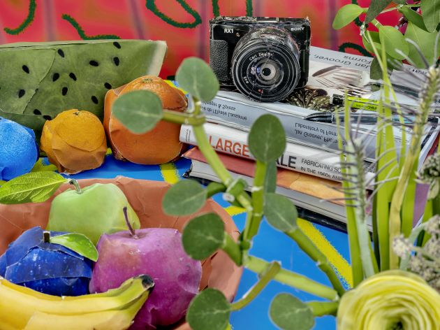 Books and Camera with Fruits © Daniel Gordon