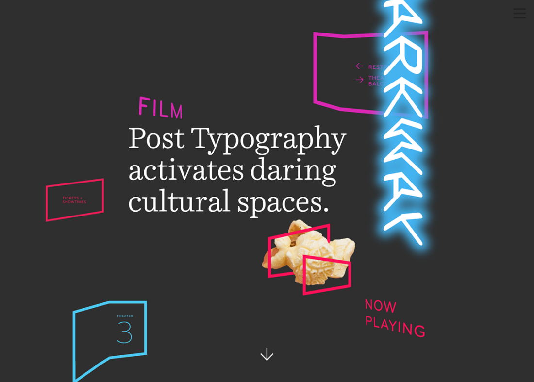 Post Typography homepage