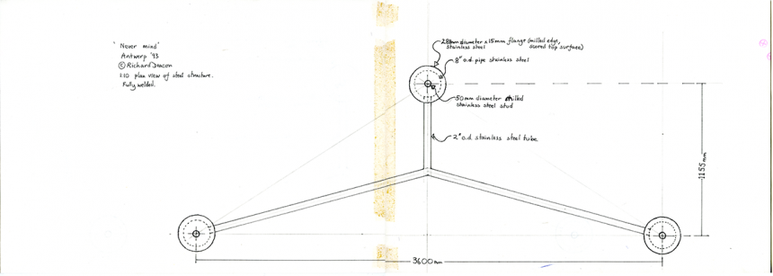 Preparatory drawings, copyright and courtesy of Richard Deacon