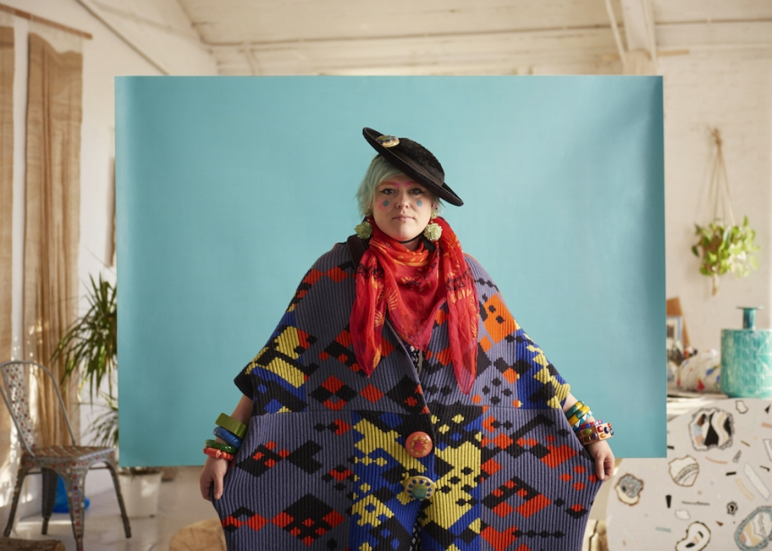 Designer Bethan Laura Wood. Favourite colour - (Bubble Wrap) Green. Photography by Toby Coulson