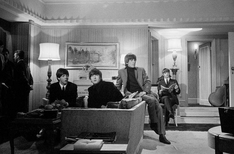 Astrid Kirchherr, The Beatles on set at A Hard Day's Night 1964