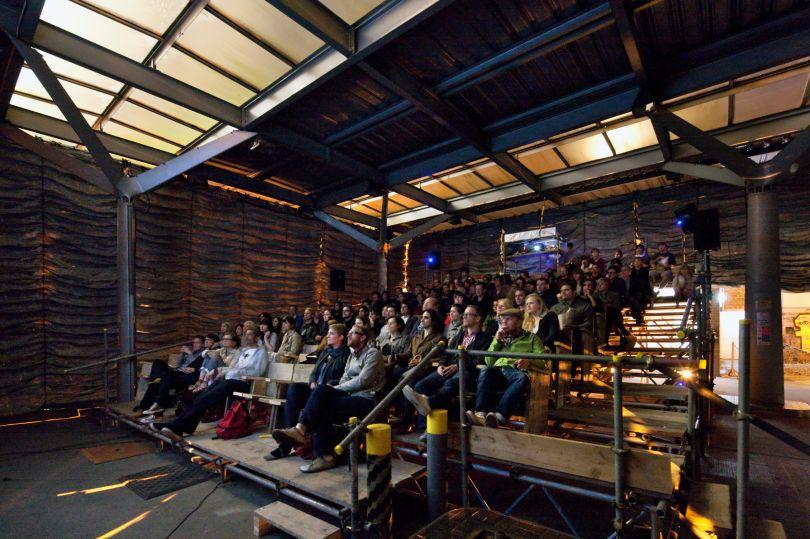 The Cineroleum Assemble. Photo by Morley Von Sternberg