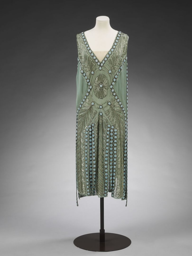 Silk georgette and glass beaded, Salambo  dress previously owned by Miss Emilie Grigsby Jeanne Lanvin Paris 1925 © Victoria and Albert Museum London
