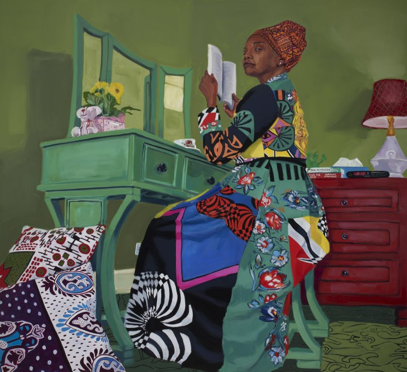 The Ascendents XVI, 2021, oil on canvas. Courtesy the artist and Pippy Houldsworth Gallery, London. © Wangari Mathenge 2021 Photo: Brian Griffin