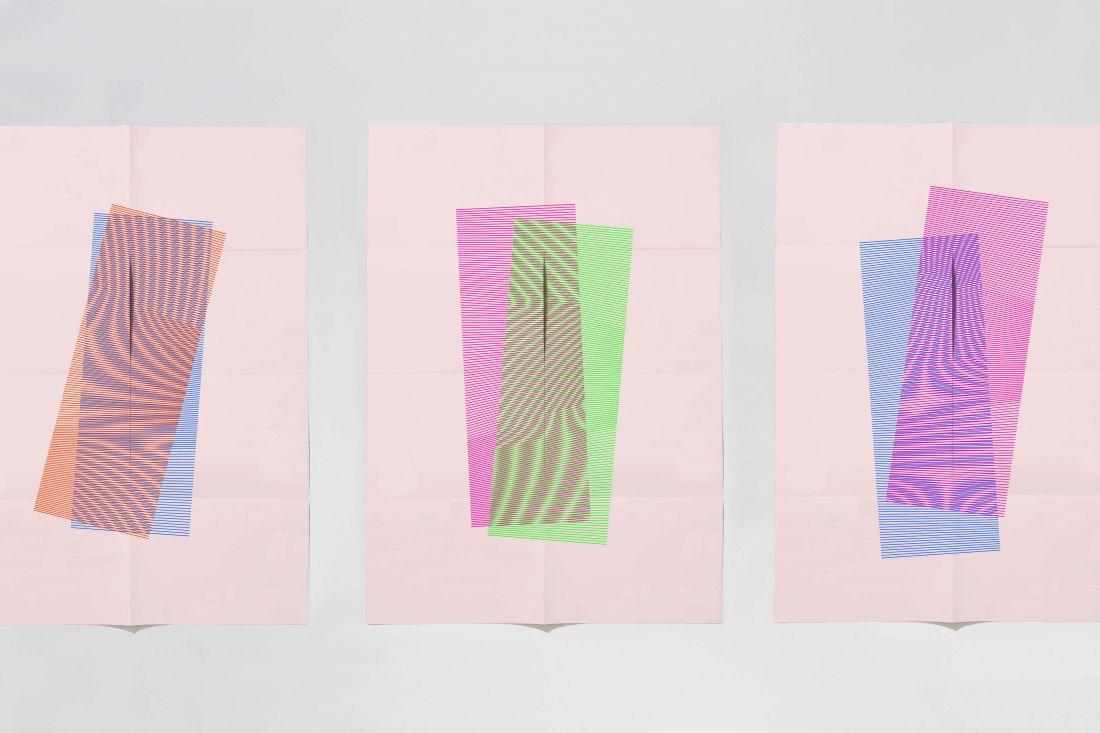 Dan Mather's fluorescent screenprinted posters explore moiré pattern and overprint
