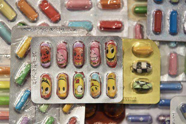 Wishing Capsules (Detail) by Zhang Yanzi at Surgeons' Hall Museums. Credit: John McKenzie and Galerie Ora-Ora