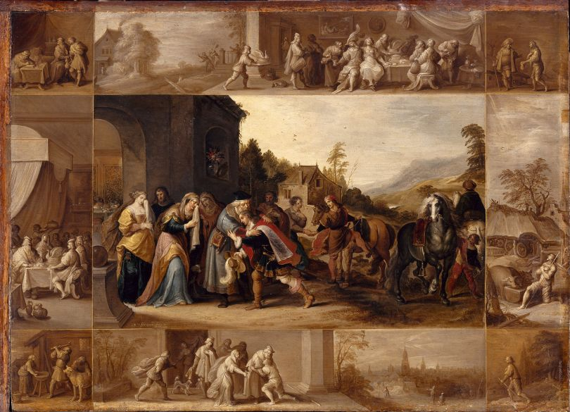 Frans Francken II (1581–1642) The Parable of the Prodigal Son, 1633 Oil on panel, 61 × 86 cm Musée du Louvre, Département des Peintures, Paris, inv. 1295
