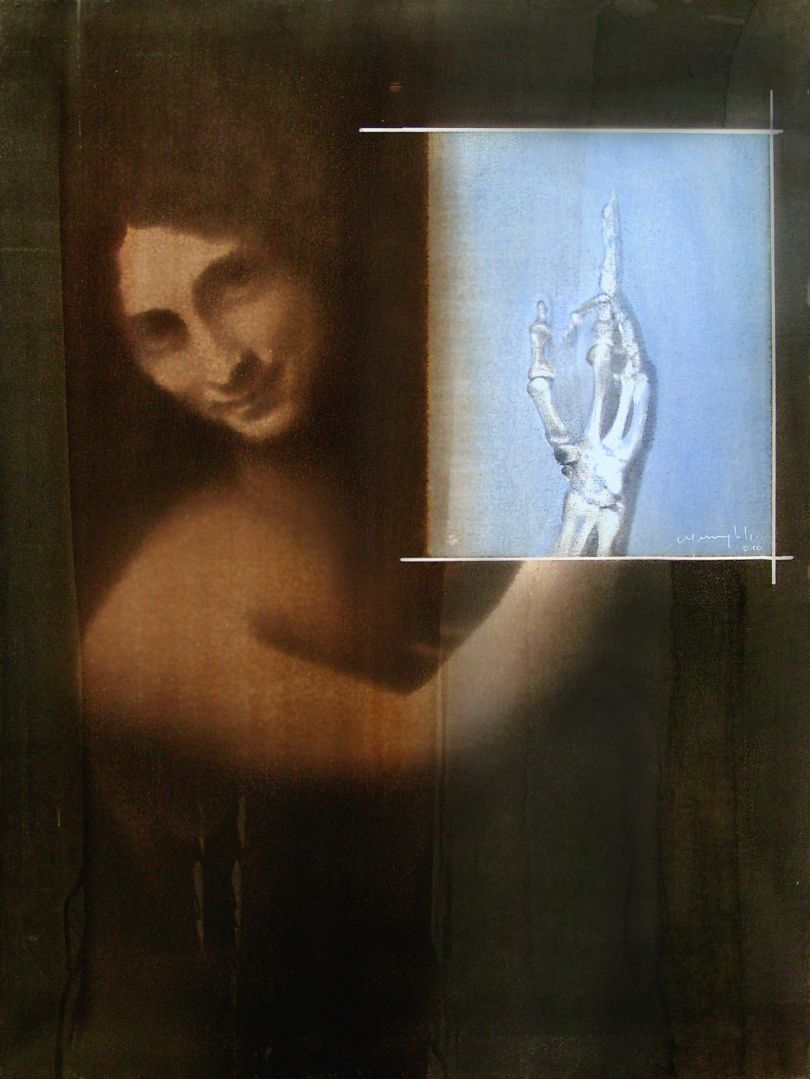 Grandi Maestri:Leonardo, San Giovanni Battista, 2010 Alcohol on pigmented canvas. 80 x 60 cm (31.5 x 23.6 in)