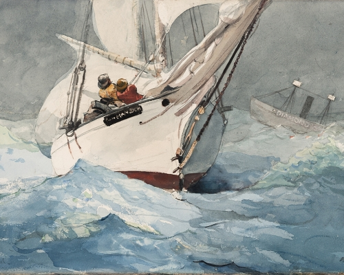 Diamond Shoal, 1905. Winslow Homer, American, 1836-1910. Watercolor and graphite on paper, Sheet: 14 × 21 7/8 inches. Private Collection.